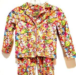 Shopkins 2 Piece Pajama Set Size S (6/6x) Top Pant